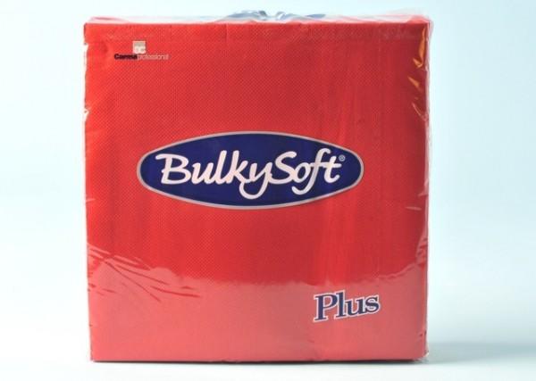 Servietten Bulky Soft Table Top rot, Zellstoff, 2-lagig, 1/4 Falz