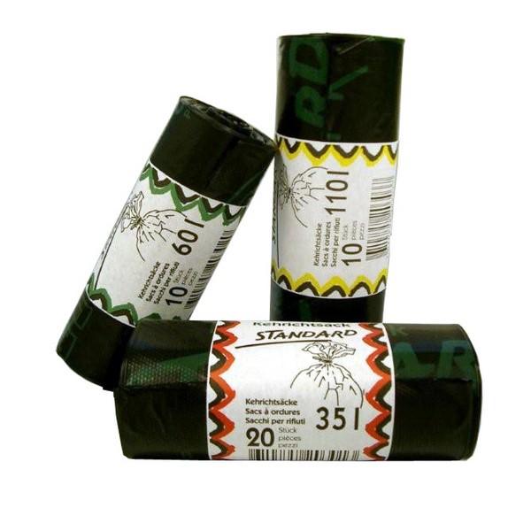 Kehrichtsäcke 35 lt schwarz