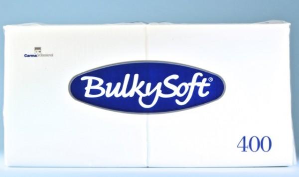 Servietten Bulky Soft Table Top weiss, Zellstoff,1-lagig, 1/4 Falz