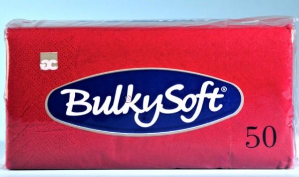 Servietten Bulky Soft Table Top bordeaux Zellstoff, 2-lagig, 1/8 Falz