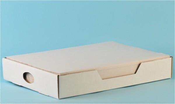 Tischset «Prima» weiss, Recycling, 1-lagig
