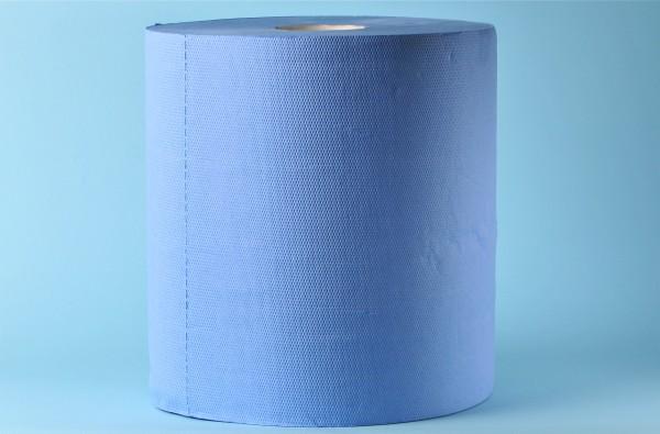 Maxi-Reinigungsrolle neutral «Blue Power» Zellstoff, 2-lagig