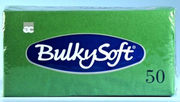 Servietten Bulky Soft Table Top tannengrün, Zellstoff, 2-lagig, 1/8 Falz