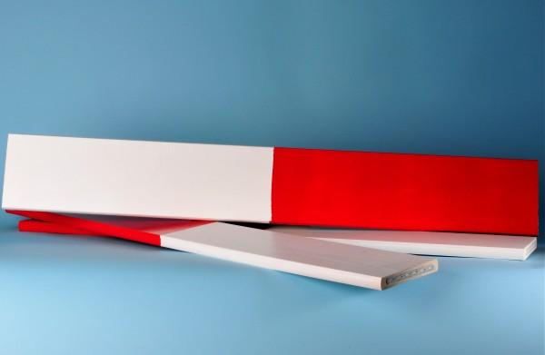 Absperrlatten, rot/ weiss lackiert, 5 Laufmeter (lfm)