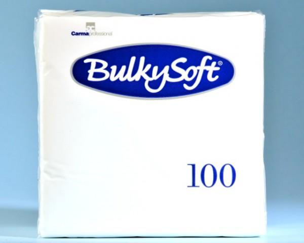 Servietten Bulky Soft Table Top weiss, Zellstoff, 2-lagig, 1/4 Falz