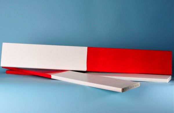 Absperrlatten, rot/ weiss lackiert, 3 Laufmeter (lfm)