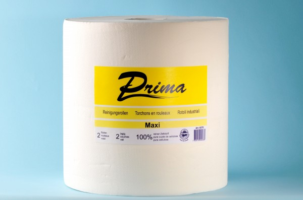 Maxi-Reinigungsrolle «Prima» Zellstoff, 2-lagig