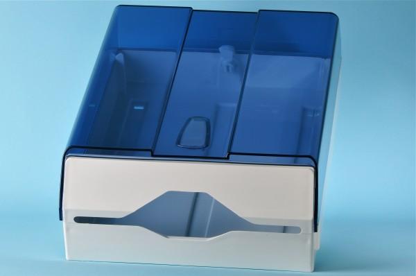 Papierhandtuchspender gross weiss / transparent