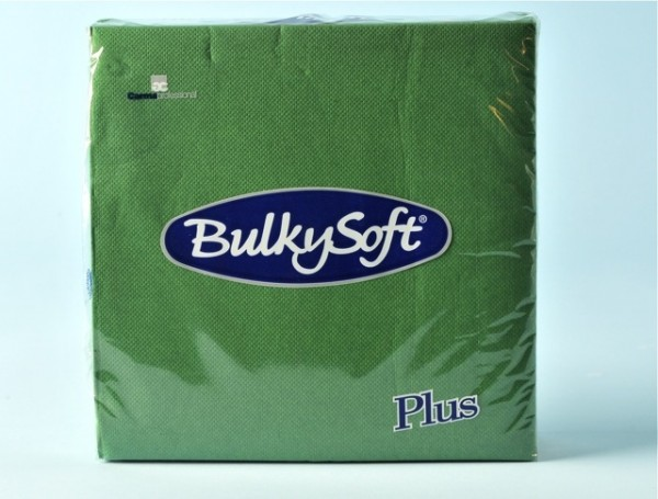 Servietten Bulky Soft Table Top tannengrün, Zellstoff, 2-lagig, 1/4 Falz