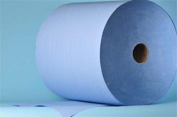 Maxi-Reinigungsrolle neutral «Blue Power» Zellstoff, 3-lagig