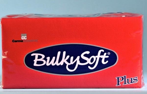 Servietten Bulky Soft Table Top Plus Line rot, Zellstoff, 2-lagig, 1/8 Falz