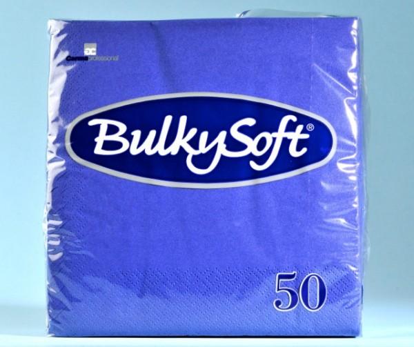 Servietten Bulky Soft Table Top blau, Zellstoff, 2-lagig, 1/4 Falz