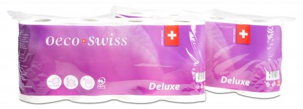 Toilettenpapier Oeco Swiss Deluxe Zellstoff, 4-lagig