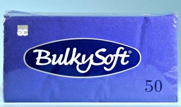 Servietten Bulky Soft Table Top blau, Zellstoff, 2-lagig, 1/8 Falz