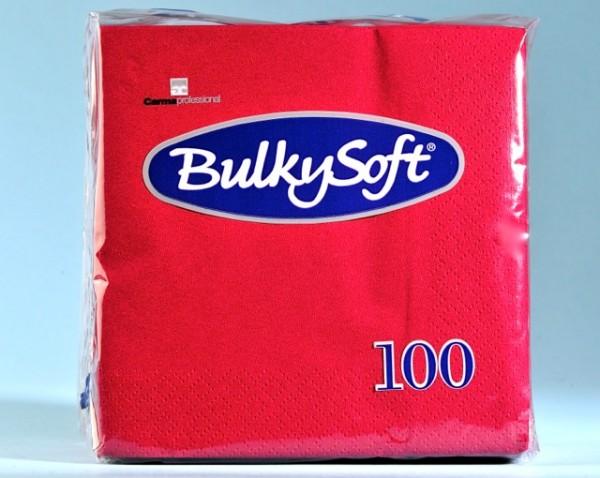 Servietten Bulky Soft Table Top bordeaux, Zellstoff, 2-lagig, 1/4 Falz