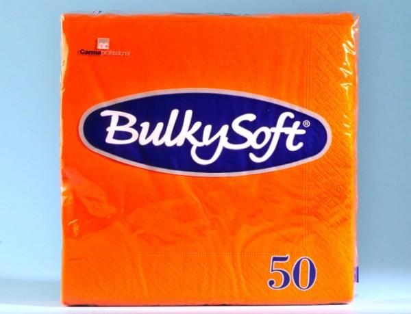 Servietten Bulky Soft Table Top orange, Zellstoff, 2-lagig, 1/4 Falz