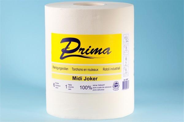 Midi-Joker Reinigungsrolle «Prima» Zellstoff, 1-lagig