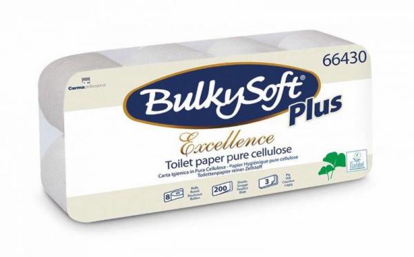 Toilettenpapier Bulky Soft Zellstoff, 3-lagig