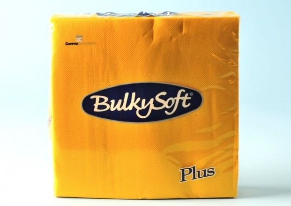 Servietten Bulky Soft Table Top gelb, Zellstoff, 2-lagig, 1/4 Falz
