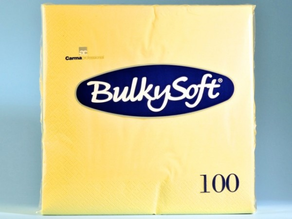 Servietten Bulky Soft Table Top champagner, Zellstoff, 3-lagig, 1/4 Falz
