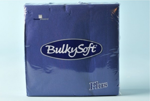 Servietten Bulky Soft Table Top blau, Zellstoff, 2-lagig, 1/4 Falz