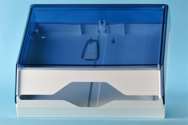 Papierhandtuchspender klein weiss / transparent