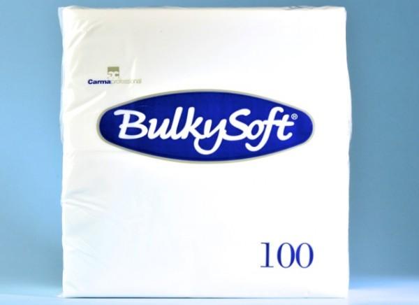 Servietten Bulky Soft Table Top weiss, Zellstoff, 3-lagig, 1/8 Falz