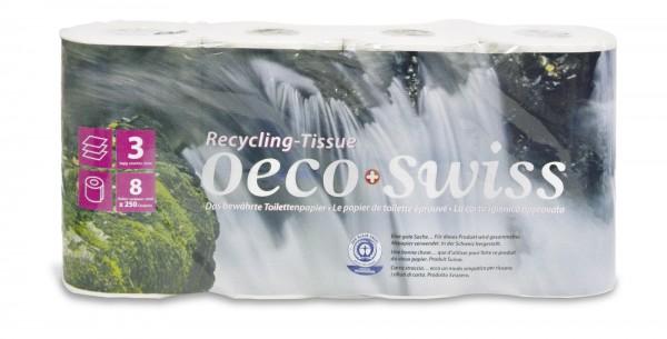 Toilettenpapier Oeco Swiss, Recycling, 3-lagig-Copy